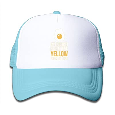 WLF Boys&Girls My English Is Not The Yellow From The Egg Kids Adjustable Mesh Hat Trucker Cap