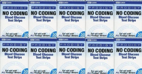 Prodigy Autocode Test Strips, 1000 Test Strips [Item Comes with Great Shelf Life]