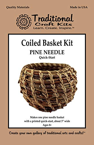 Traditional Craft Kits Quick Start Pine Needle Basket Kit - Round Style