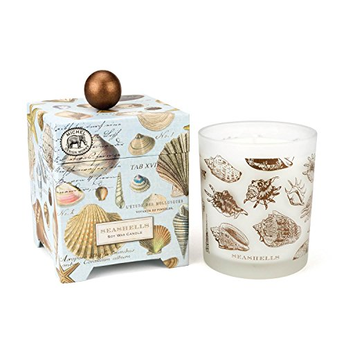 Shell Design Candle - Michel Design Works Gift Boxed Soy Wax Candle, 14-Ounce, Seashells