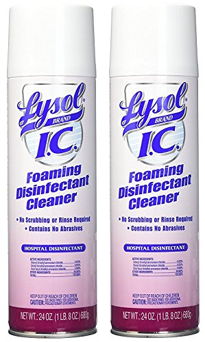 Professional Lysol IC Foaming Disinfectant Cleaner Concentrate, 288oz (12X24oz) (2 PACK)