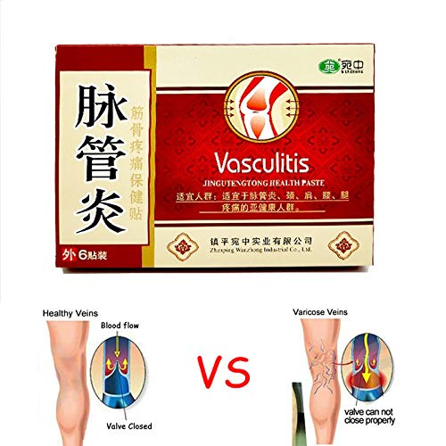 EDTara Varicose Treatment Plasters Chinese Traditional Herbal Medicine Patches Cure Spider Veins Vasculitis 6 Plasters/Box ()
