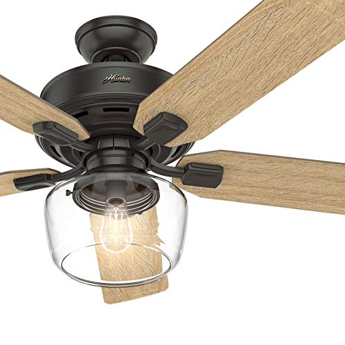 Hunter Fan 52 inch Casual Nobel Bronze Indoor Ceiling Fan with Light Kit and Remote Control (Certified Refurbished)