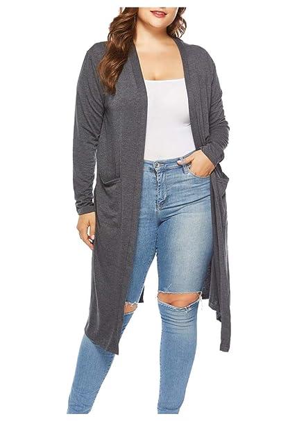 Amazon.com: Durcoo - Blusa de manga larga con flecos para ...