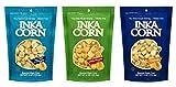 Inka Non-GMO Giant Roasted Corn Snacks 3 Flavor 6 Bag Variety Bundle, 2 each: Sea Salt & Vingar, Chile Picante, Original - 4 Ounces