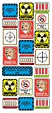 Sticko Decorative Stickers, Zombie Survival Labels