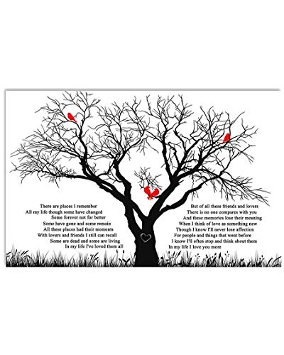 Mattata There are Places I Remember Lyrics Poster Print (24