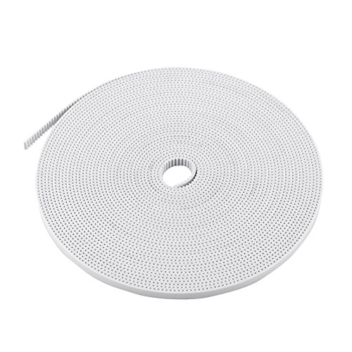 10 Meters 2GT-6 Open Ended PU Timing Belt Width 6mm For RepRap 3D Printer CNC White Steel Core Accessory (Core Loop Steel)