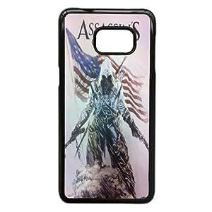 Samsung Galaxy S6 Edge Plus Phone Case Black Assassin Creed-5 ZEC888222
