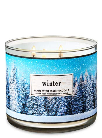 Bath & Body Works 3 Wick Candle Winter White Barn