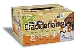 Duraflame 4637 6-Pack Crackleflame Firelogs, 4-Pound