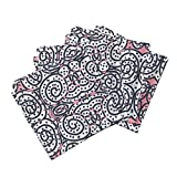 Roostery Pink Organic Sateen Dinner Napkins Pink Is The Navy Blue Of India by Susaninparis Set of 4 Cotton Dinner Napkins made by