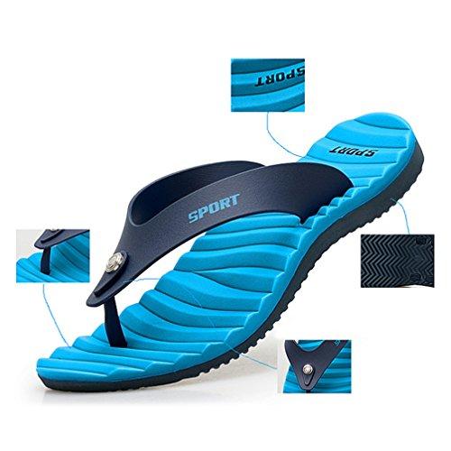 Zehentrenner Flip-Flops Sandalen Slim Strandschuhe Blau