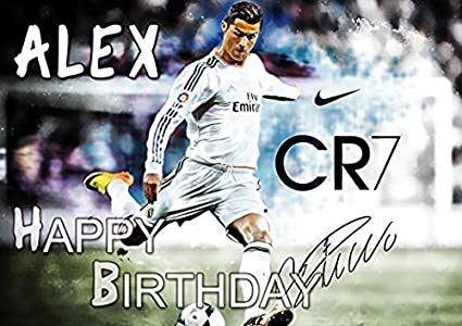 Amazon Com Cristiano Ronaldo Cr7 Real Madrid Edible Cake Topper