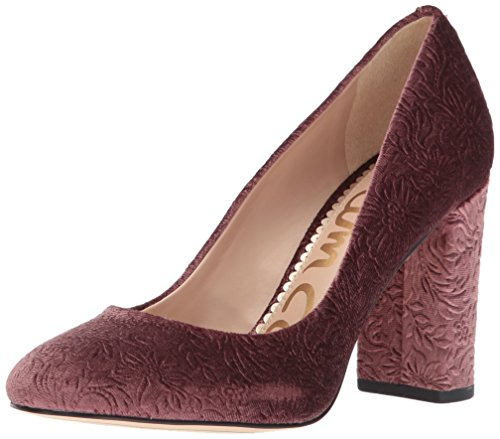 (Sam Edelman Women's Stillson Pump, Mauve Wine Embossed Velvet, 7 Medium US)