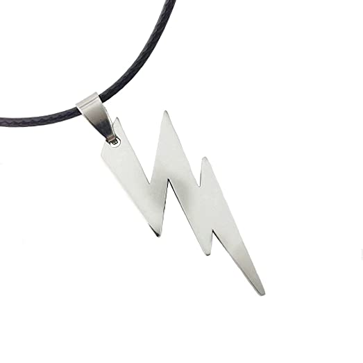 Dastan stainless steel necklace zeus flash lightning bolt pendant dastan stainless steel necklace zeus flash lightning bolt pendant on leather cord the flash mozeypictures Image collections