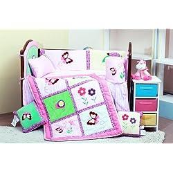 Butterfly 8 Pc Baby Crib Bedding Set