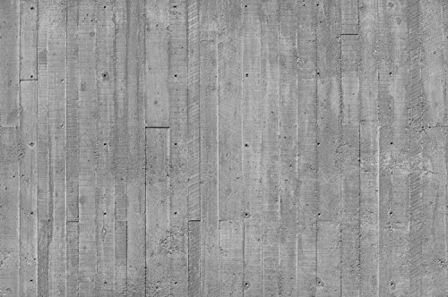 19.5-Feet wide by 9-Feet high. Prepasted robust wallpaper mural from a very high res. photo of: Concrete Planks .Have to touch to know it is not real.Our murals are easy to install remove and reuse (hang again)