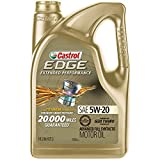 Castrol 03086 EDGE Extended Performance 5W-20 Advanced Full Synthetic Motor Oil, 5 Quart