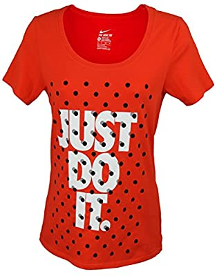 NIKE Womens Shadow Dot JDI Active Top - Spicy Orange (Small)