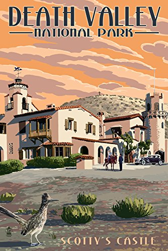 Scotty's Castle - Death Valley National Park (9x12 Collectible Art Print, Wall Decor Travel Poster) Scottys Castle