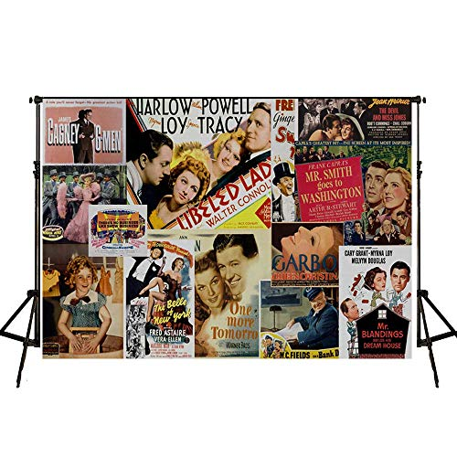 Younger Land Movie Theme Photography Backdrop and Studio Props DIY Kit. Dress-up and Awards Night Ceremony Photo Booth Background, Vintage Costume Birthday Party Supplies and Event Decorations YL004 from Younger Land