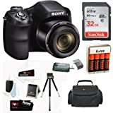 Kyпить Sony Cyber-shot DSC-H300/B Compact Zoom Digital Camera in Black + SanDisk Ultra 32GB 80MB/s SD Card + Carrying Case + 4 AA Rechargeable Batteries w/ Charger + Accessory Kit на Amazon.com