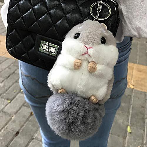 Women Hamster Ball Plush Keychain,6