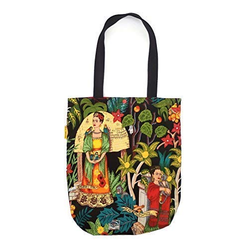 Tote Bag Frida Kahlo, Bolso tote de algodón hecho a mano, Bolsa de tela