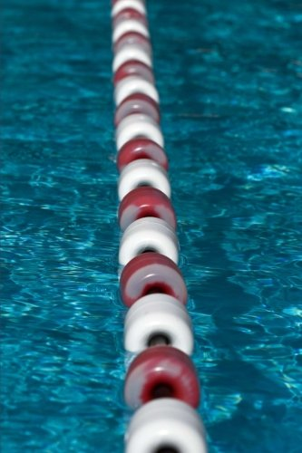 Swimming Laps:  A Lane Divider in a Swimming Pool Sports and Recreation Journal: 150 Page Lined Notebook/Diary