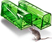 Trazon Humane Mouse Traps Catch and Release That Work - Mouse Traps No Kill - Live Mouse Traps - Reusable Mous