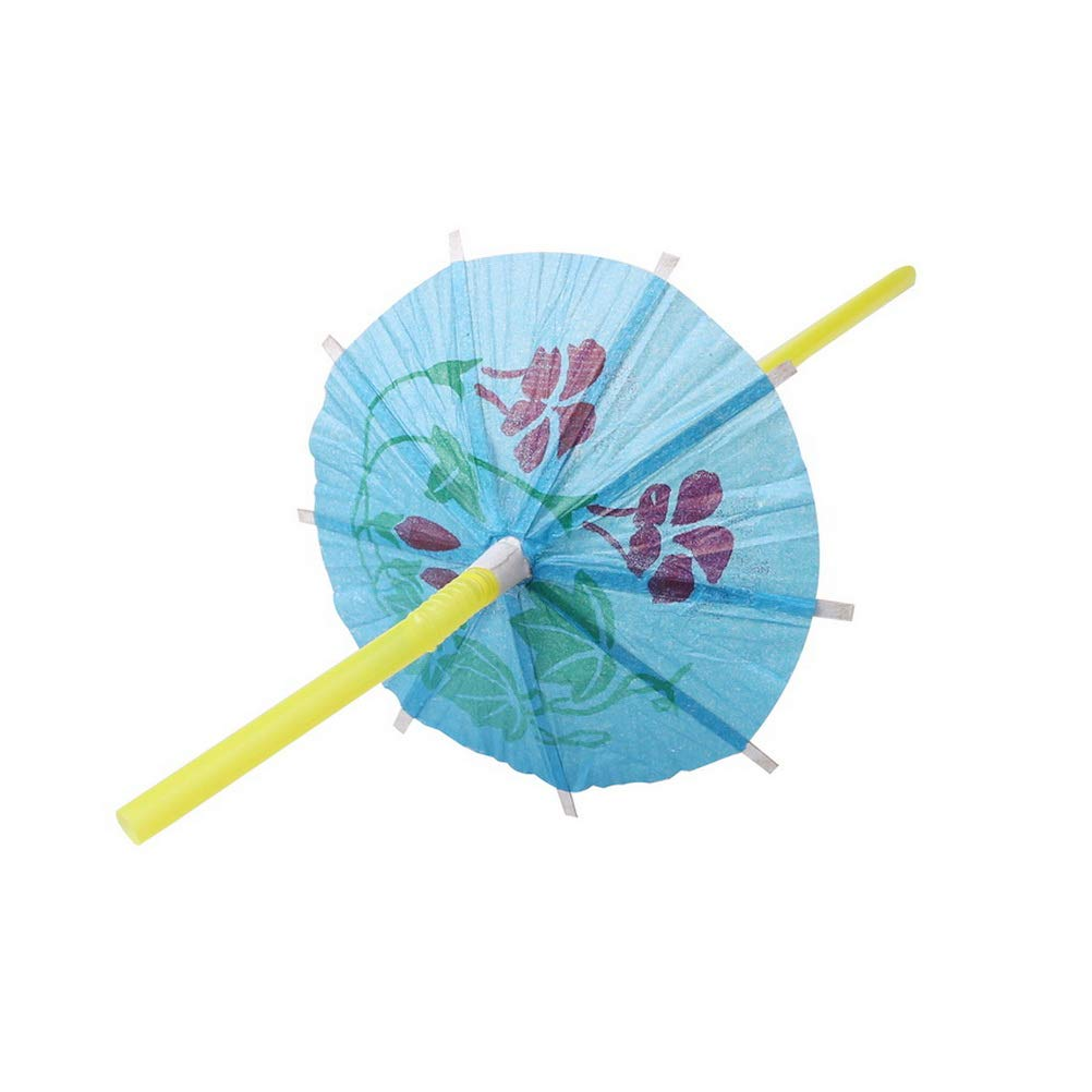 Bendable Parasol Drinking Straws for Cocktail Tropical Party kuou 60pcs Umbrella Drinking Straws