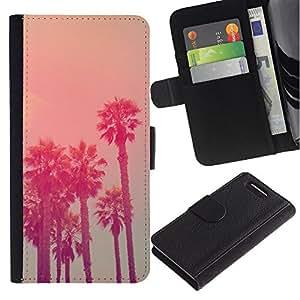 Stuss Case / Funda Carcasa PU de Cuero - California Vignette La estado de la mar - Sony Xperia Z3 Compact