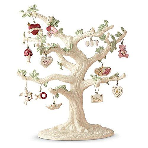 Heart Miniature Ornament - Lenox Valentine Be Mine Miniature Tree Ornaments Set of 12 Heart Dove Cupid NO TREE