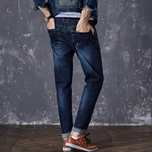 Ragazzo Dritti Fit T Da Vintage Alsbild Casual E Uomo Jeans Denim Larghi Regular Pantaloni WY7qIz