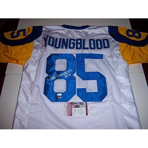 brand new f355d 84db4 Jack Youngblood FloridaLosangeles Rams HOF JSA Signed Jersey ...