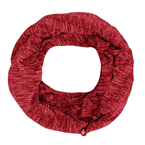 Hot Sale Women Zipper Pocket Scarves, DEATU Ladies Winter Convertible Infinity Scarf Loop Zipper Pocket Chic Scarves(Red 2,Free Size) -