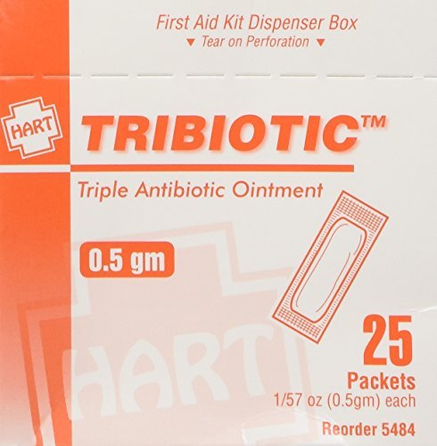 Triple Antibiotic Ointment, 25/box by Hart