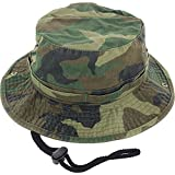 #1: DealStock 100% Cotton Boonie Fishing Bucket Men Safari Summer String Hat Cap (15+ Colors)