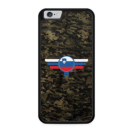 Slovenija Slowenien Camouflage - Hülle für iPhone 6 & 6s SILIKON Handyhülle Case Cover Schutzhülle - Slovenia Flagge Flag Military Militär