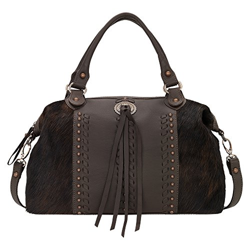 4138227 American West Women's Cow Town Purse - Chocolate by American West