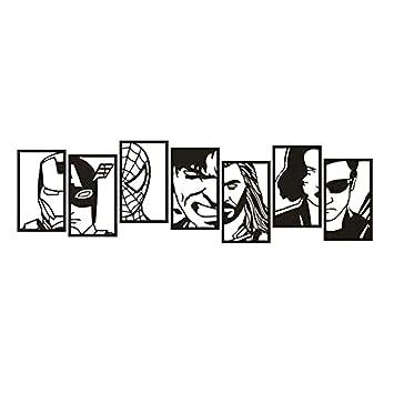 Superhéroe Tatuajes de pared Vengadores Diseño Mural de la pared ...