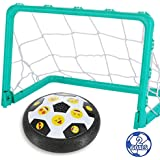 Totem World Kids Toys Hover Emoji Soccer Ball Set with 2 Goals Gift Football Disk Toy with LED Light for Boys Girls Age of 2, 3, 4,5,6,7,8-16 Year Old, Indoor Outdoor Sports Ball Game for Children