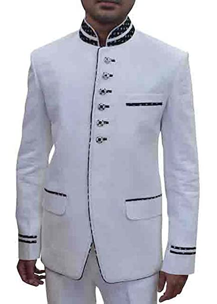 INMONARCH Mens White 2 Pc Linen Tuxedo Suit 6 Button TX4128 ...
