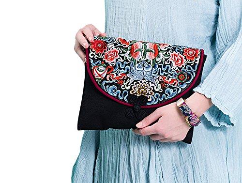 Belle Oriental Ricamo Pochette Purse 159 100 Art Handbag Handmade wvIx4R