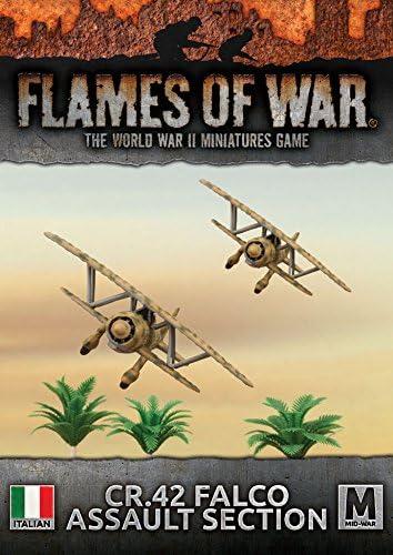 42 Falco Assault Section Mid War Italian CR Flames of War