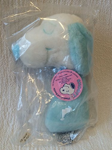 Peanuts Baby Snoopy BLUE Plush Rattle Soft Doll by Baby Snoopy