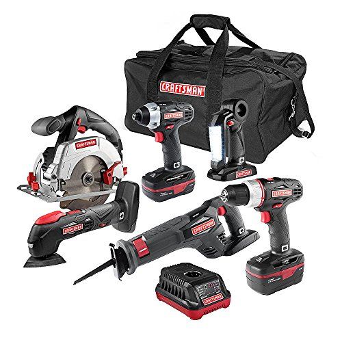 (6-pc. 19.2V C3 Combo Cordless Power Tool Kit w/ Lithium-Ion Technology)