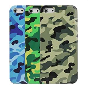 Tide Cool Army Camouflage Pattern Plastic Case Cover For iPhone 5.