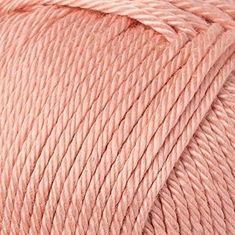 morbido totale 250 g 50 g 3 DK pettinato leggero 100/% cotone mercerizzato K255 Kartopu Organica Confezione da 4 matasse di filato Bianco rosato 125 m